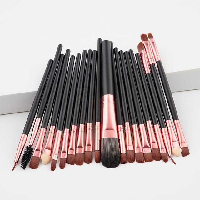 20 pcs makeup tools brushes sets foundation brush eyeshadow brush eyebrow brush makeup brushes set professional brush holder - GoJohnny437
