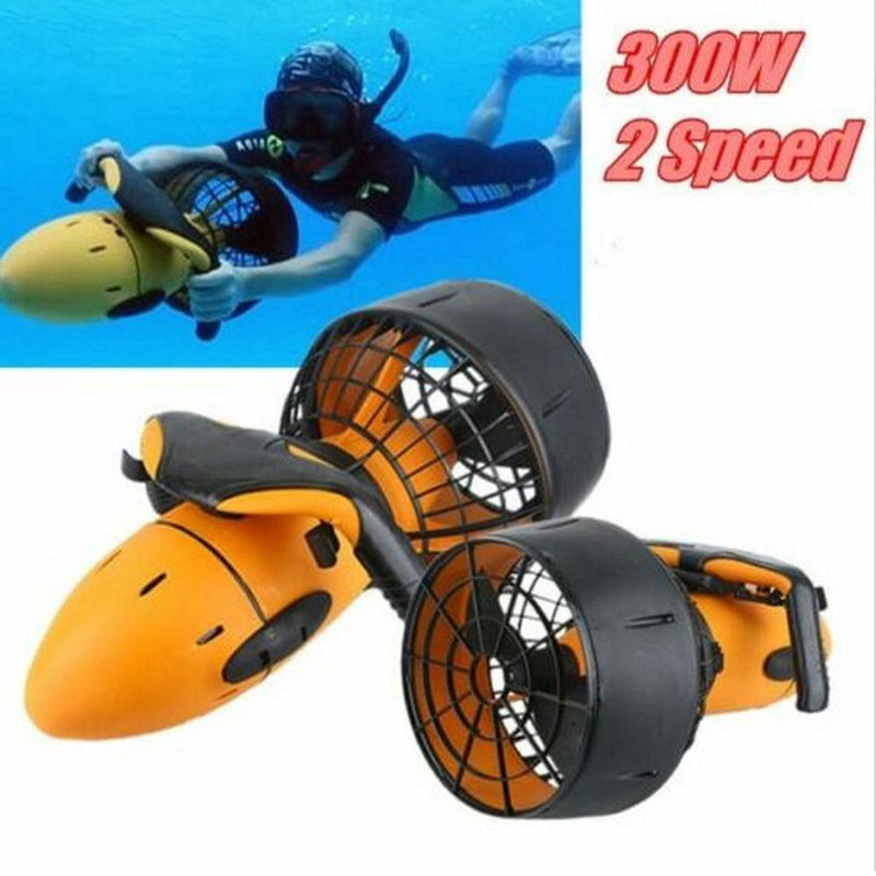 300W Electric Underwater Scooter Water Sea Dual Speed Propeller Diving Scuba Scooter Water Sports Equipment Outdoor - GoJohnny437