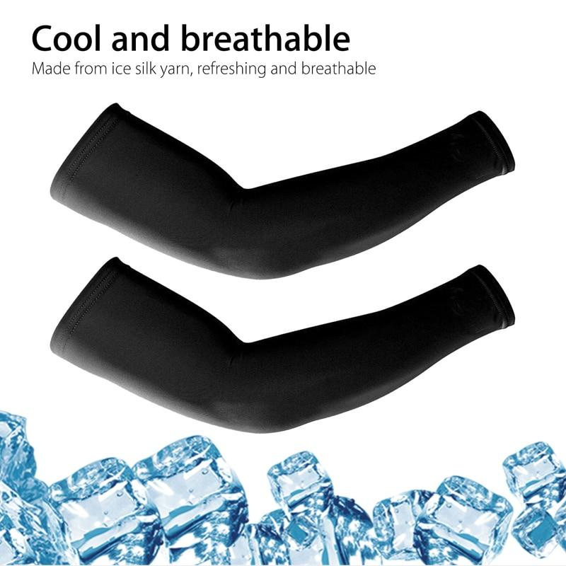 4 Pairs Unisex Cooling Arm Sleeves Cover Cycling Running UV Sun Protection Outdoor Men Nylon Cool Arm Sleeves for Hide Tattoos - GoJohnny437