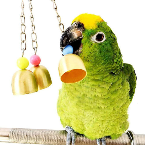 7 Pcs/set Bird Parrot Swing Toy Hanging Bell Ladders Climbing Chewing Hanging Toy Bird Accessories Birds Toys - GoJohnny437