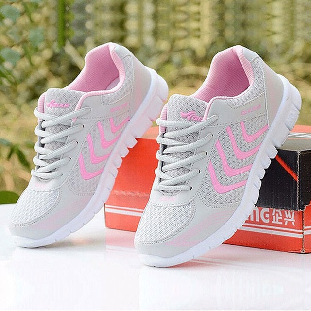 Women shoes New fashion tennis light breathable mesh white shoes woman casual shoes women sneakers fast delivery