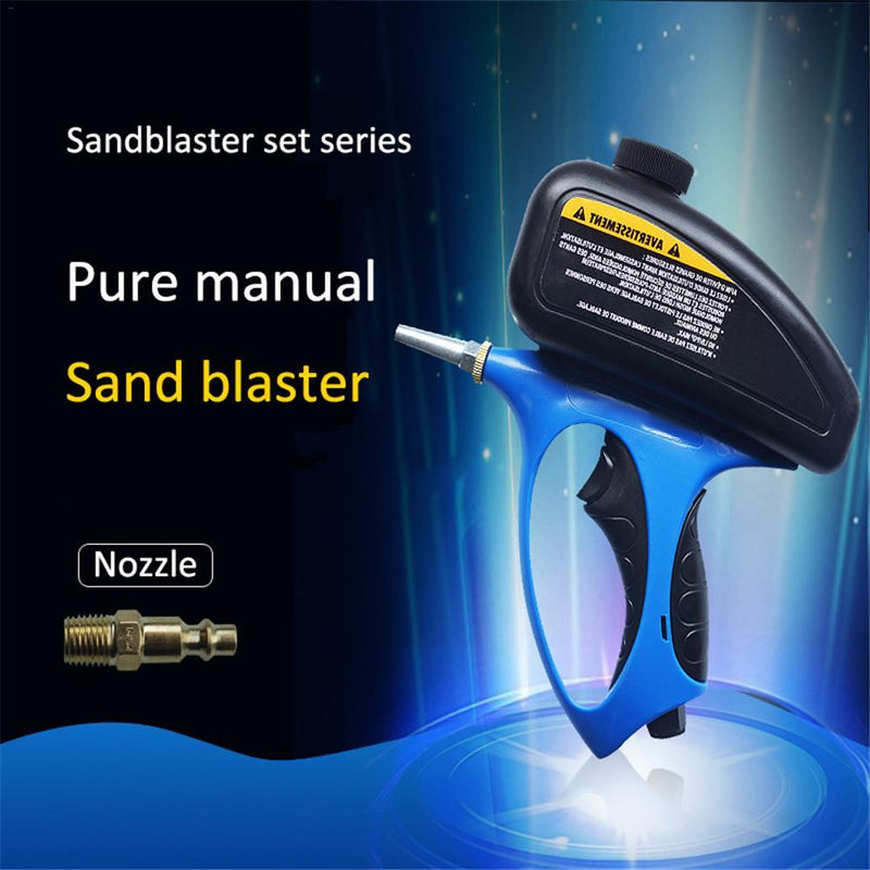Anti-rust Sandblaster Handheld Pneumatic sand blasting machine Glass Tombstone Sprayer Sandblasting Machine with Small Nozzle - GoJohnny437