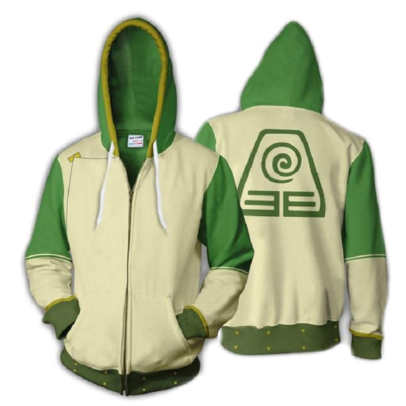 Avatar: The Last Airbender Hoodie 3D Printed Zip Up Polyester Hip Hop Men Hooded Hoodie for Spring Autumn Sportswear - GoJohnny437