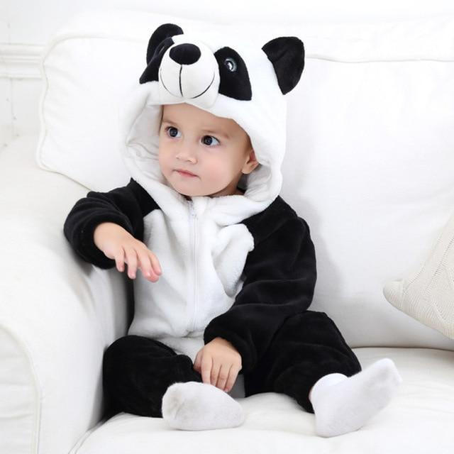 Baby Rompers Panda Newborn Clothes Baby Girls Boys Romper Infant Clothing Jumpsuit Toddler Baby's Sets Stitch Pajamas - GoJohnny437