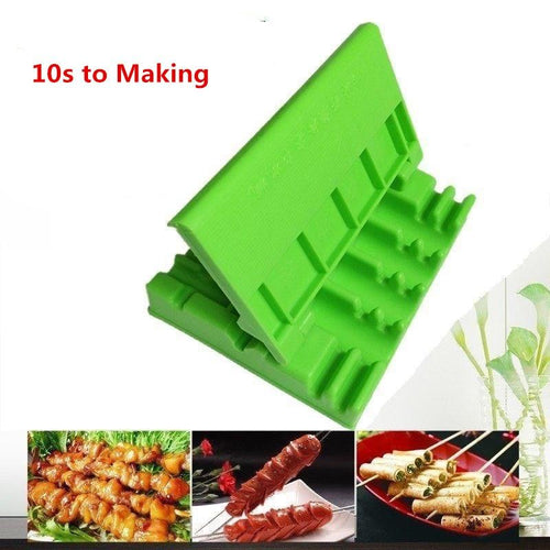 Barbecue Stringer Skewers Kebab Maker Box Machine Beef Meat Vegetable String Grill Barbecue Kitchen Accessories BBQ Gadget - GoJohnny437