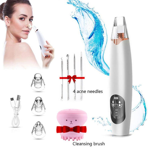 Blackhead Remover acuum Electric Nose Face Deep Cleansing Skin Care Machine Blackhead Remover Black Spots Pore Cleaner T Zone - GoJohnny437