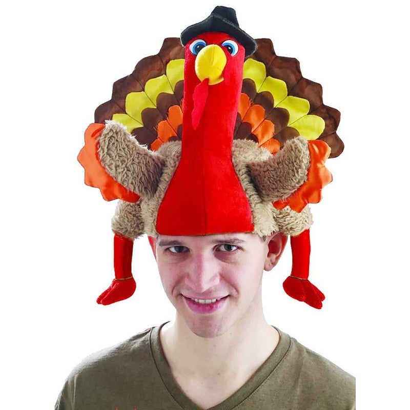 Celebration Thanksgiving Turkey Hat Lovely Party Stage Perform Masquerade Cosplay Decorative Accessories - GoJohnny437