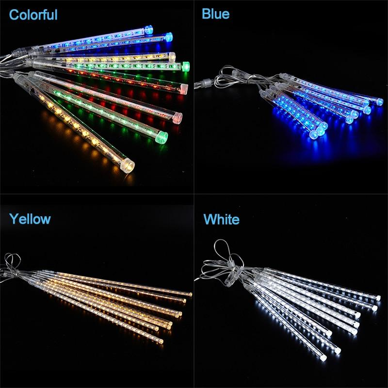 Christmas String Lights Outdoor Fairy Lights Festoon Led Meteor Shower Light Decoration Street Garland Halloween Wedding Party - GoJohnny437
