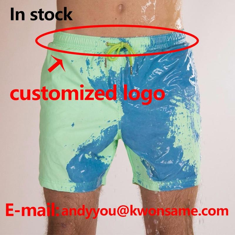 Color Changing Swim Trunks Swimwear Swimming Trunks Men Swimsuit Changes Color Men Swimwear 2020 Shorts Suit - GoJohnny437