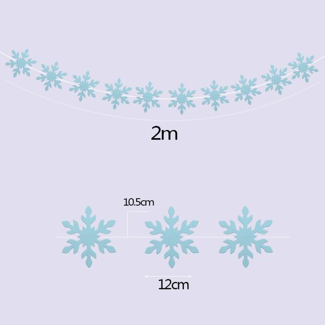 Decoration Snowflake Paper Garlands Hanging Banner for Winter Party Decor Supplies Christmas Artificial Snowflake Ornaments - GoJohnny437