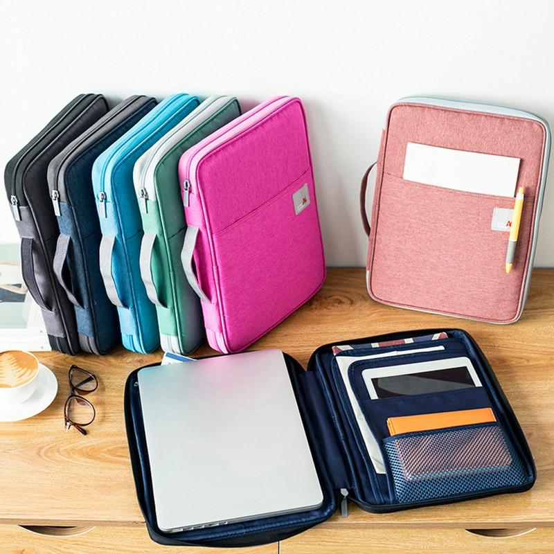 Document Bags Filing Pouch Portable Waterproof Oxford Cloth Organized Tote Laptop For Notebooks Pens Computer Stuff - GoJohnny437