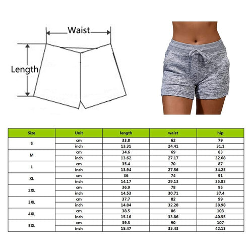 Drawstring Shorts Workout Fitness Running Sport Female Shorts Cotton High Waist Gym Cycling Shorts - GoJohnny437