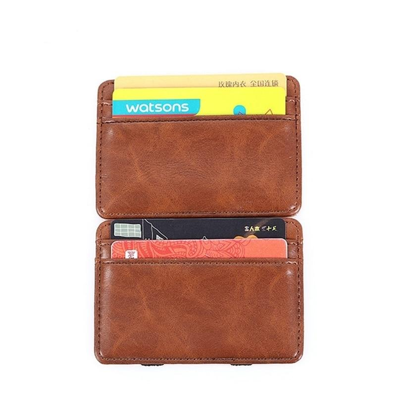 Fashion Men Slim Wallet Male Ultra thin Short Men Magic Wallet Money Cash Card Holder Purse - GoJohnny437