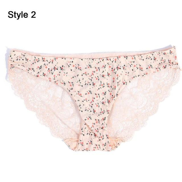 Fashion Women's Sexy Lace Panties Seamless Underwear Briefs Leopard Ice Silk for Girls Bikini Cotton - GoJohnny437