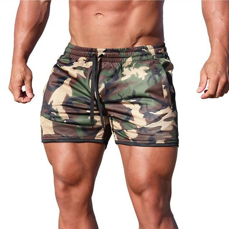 Fitness shorts Fashion Breathable quick-drying gyms Bodybuilding Joggers shorts Slim fit shorts camouflage Sweatpants - GoJohnny437