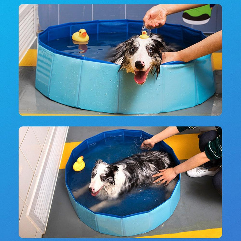Foldable Dog Swimming Pool PVC Pet Bath Swimming Tub Bathtub Pet Swimming Pool Collapsible Swimming Pool for Dogs Cats - GoJohnny437