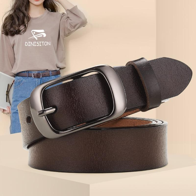 Genuine Leather Belt For Female Strap Casual All-match Ladies Adjustable Belts Designer High Quality Brand - GoJohnny437