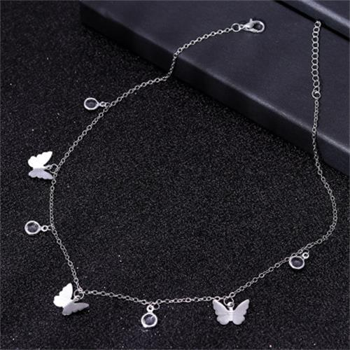Gold Chain Butterfly Pendant Choker Necklace Women Statement Collars Beach Jewelry Gift Collier Cheap - GoJohnny437