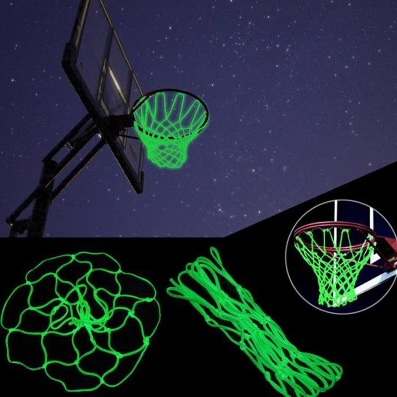 Green Fluorescent Basketball Net Luminous Basketball Net Night Sports Fluorescent Standard Basketball Net Color Random - GoJohnny437