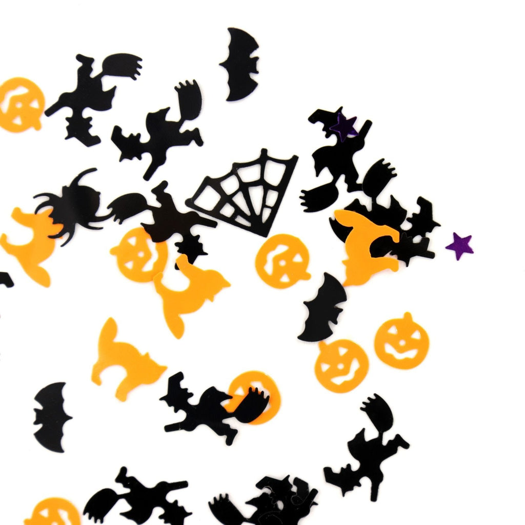 Halloween Confetti Pumpkin Spider Bat Witch Spider-web Sprinkles Table Confetti Bright Halloween Night Decor Party Supplies - GoJohnny437