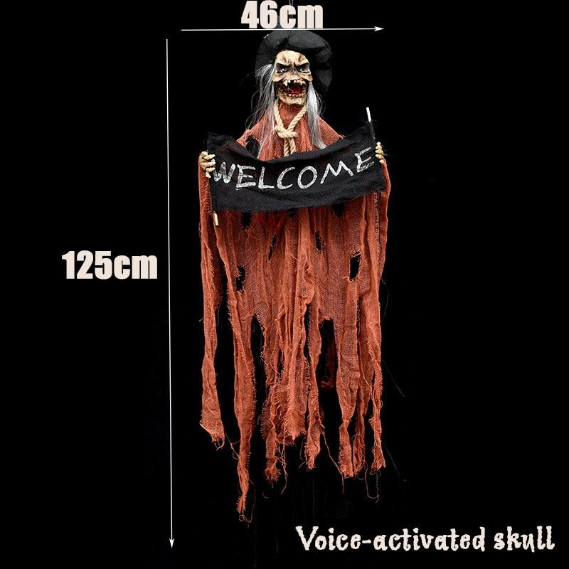 Halloween Hanging Ghost Haunted House Hanging Grim Reaper Cloaks Haunted Horror Props Home Door Bar Club Halloween Decorations - GoJohnny437