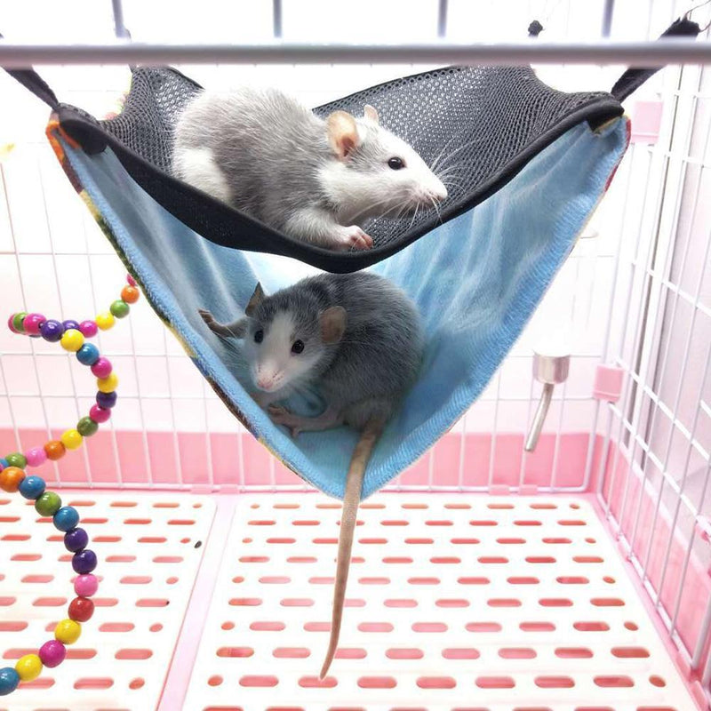 Hamster Hook Hammock Chinchilla Ferrets Double-layer Breathable Mesh Hanging Bed Nest Small Pet Comfort Cool Bed Dropshipping - GoJohnny437