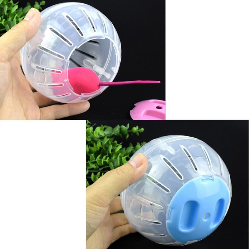 Home Pet Funny Running Ball Plastic Grounder Jogging Hamster Pet Small Exercise Toy 3 colors - GoJohnny437