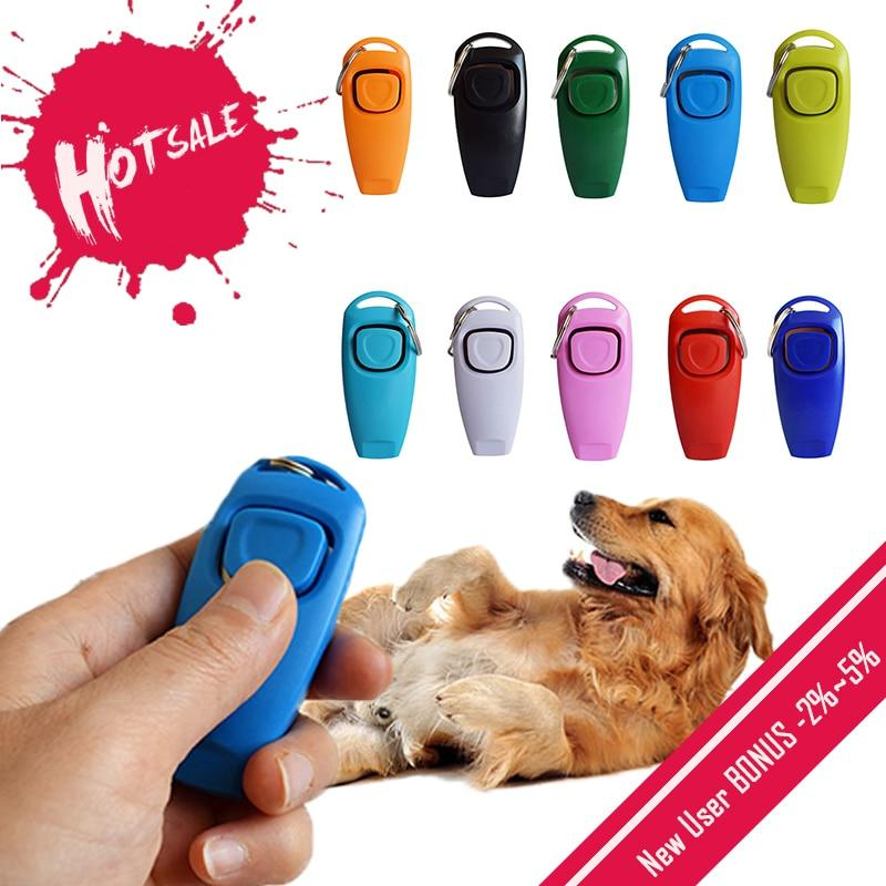 Hot 2 In 1 Cute Shape Dog Whistle Clicker Pet Dog Trainer Aid Guide With Key Ring Dog Training Whistle Dog Products Pet Supplies - GoJohnny437