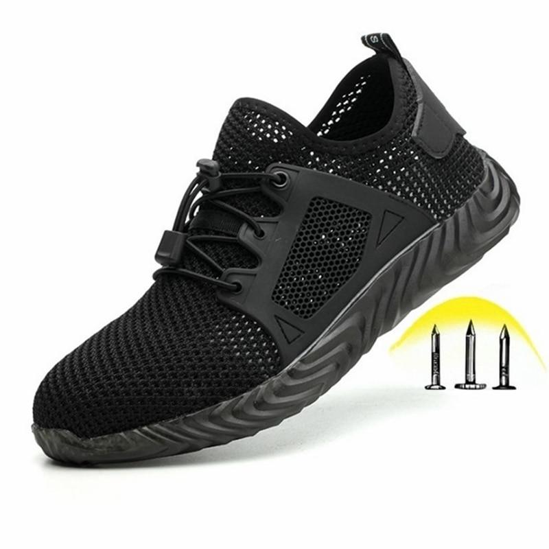 Indestructible Ryder Shoes Men and Women Steel Toe Cap Work Safety Shoes Puncture-Proof Boots Lightweight Breathable Sneakers - GoJohnny437