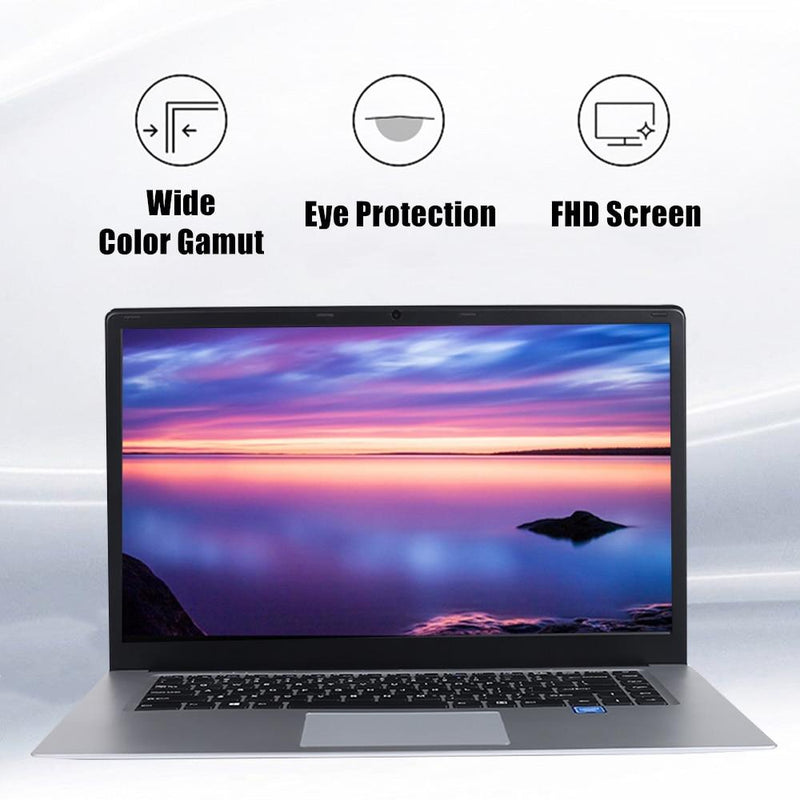 intel J3455 Quad Core Ultrabook 15.6 inch Student Laptop 8GB RAM 256GB SSD Notebook With Webcam Bluetooth WiFi - GoJohnny437