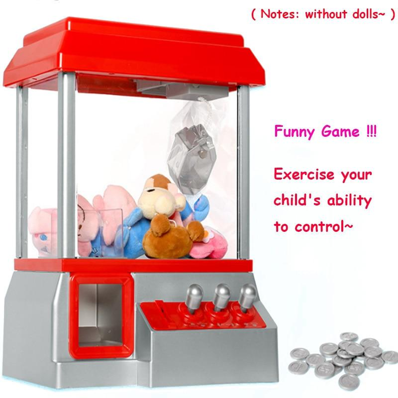 Kids Claw Machine Music Coin Operated Gabinete Gamer Game Mini Arcade Machine Vending Candy Grabber Without Toys Children Gifts - GoJohnny437