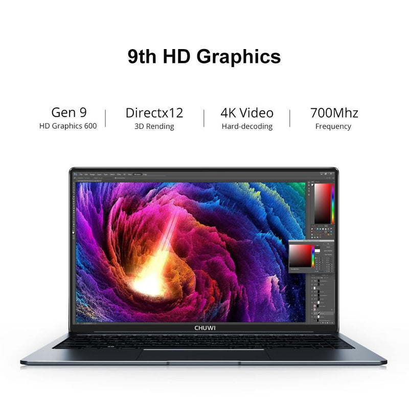 LapBook Pro 14.1 Inch Intel Gemini-Lake N4100 Quad Core 8GB RAM 256GB SSD Windows 10 Laptop with Backlit Keyboard - GoJohnny437