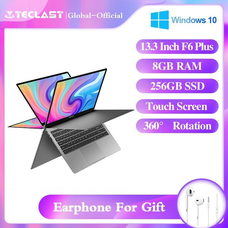 "laptop F6 Plus 13.3"" Notebook 1920×1080 IPS Gemini Lake N4100 Windows10 8GB LPDDR4 256GB SSD 360° Rotation touch - GoJohnny437"