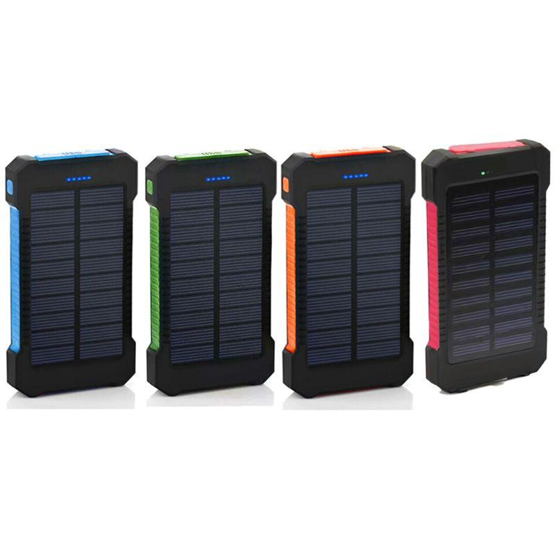 LED Dual USB Ports Solar Panel Power Bank Case Concise and vogue style Charger DIY Kits Box For Samsung 18