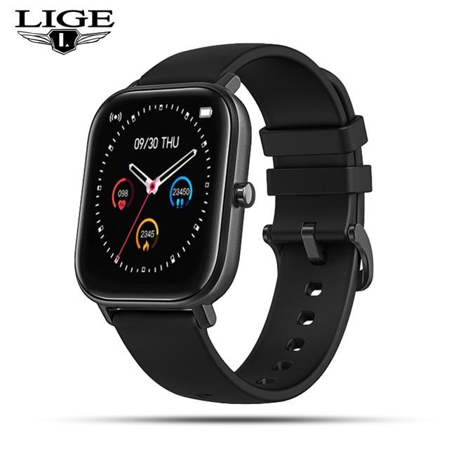 LIGE 2020 New women digital watches Waterproof sports for xiaomi iPhone Multifunctional sport electronic watch men women watch - GoJohnny437
