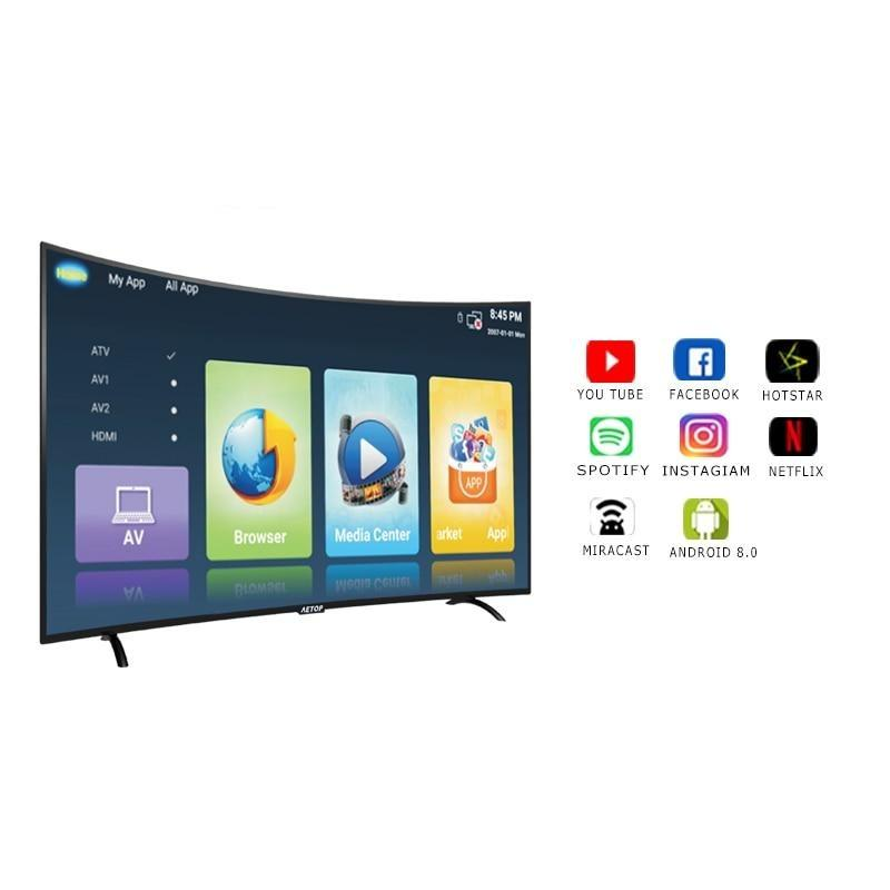 Matrix tv 32 inch tv smart television led curved screen tv android with wifi - GoJohnny437