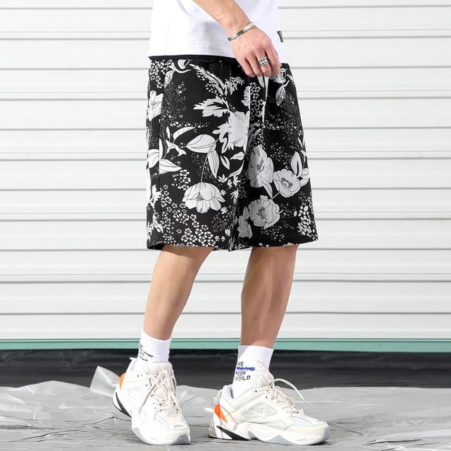 Men's Fashion Loose Beach Shorts 2020 Summer Brand Clothing Personality Printing Comfortable Cotton Youth Casual Shorts - GoJohnny437