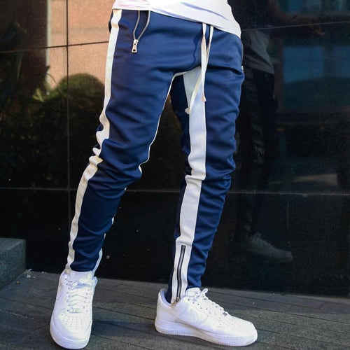Mens Joggers Casual Pants Fitness Men Sportswear Tracksuit Bottoms Skinny Sweatpants Trousers Black Gyms Jogger Track Pants - GoJohnny437