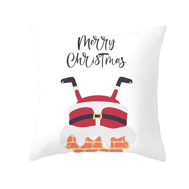 Merry Christmas Decorations For Home Reindeer Santa Claus Tree Cushion Cover Christmas Ornament 2020 Xmas Gift - GoJohnny437