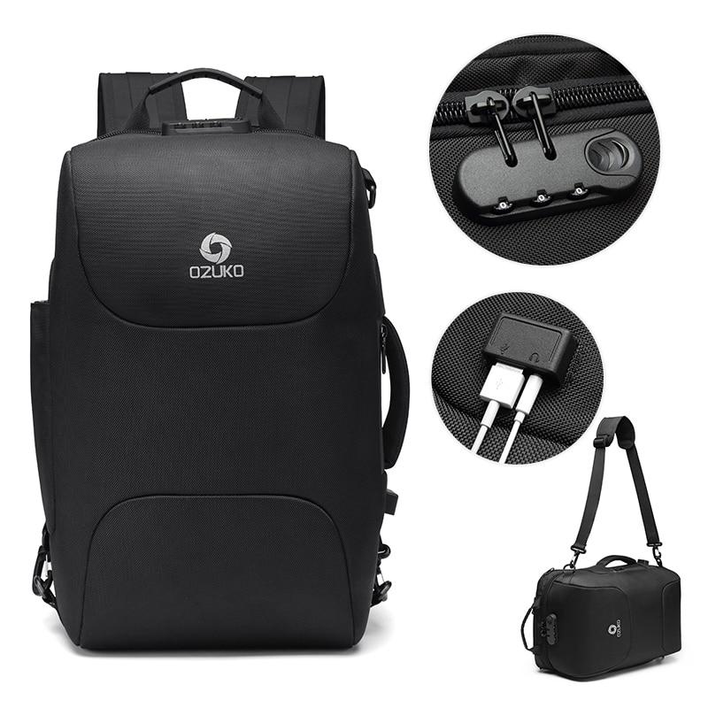 Multifunction Men Anti Theft 15.6 inch Laptop Backpack Male USB Charging Waterproof Bag Business Casual Travel Bag - GoJohnny437