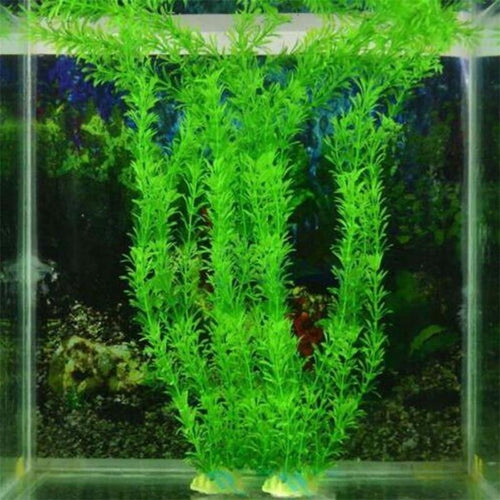 New 37CM artificial underwater plants aquarium fish tank decoration green purple water grass viewing decorations - GoJohnny437