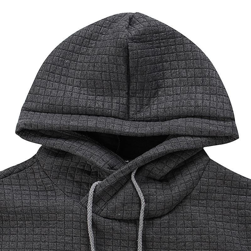 New Hoodies Men Brand Male Plaid Hooded Sweatshirt Mens Hoodie Tracksuit Sweat Coat Casual Sportswear - GoJohnny437