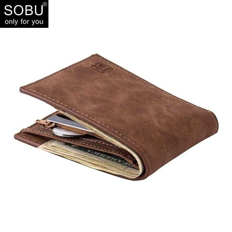 New Men Wallets Small Money Purses Wallets New Design Dollar Price Top Men Thin Wallet With Coin Bag Zipper Wallet - GoJohnny437