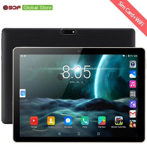 New Original 10 inch Tablet Pc Android 7.0 Google Market 3G Phone Call Dual SIM Cards BDF Brand WiFi GPS Bluetooth 10.1 Tablets - GoJohnny437