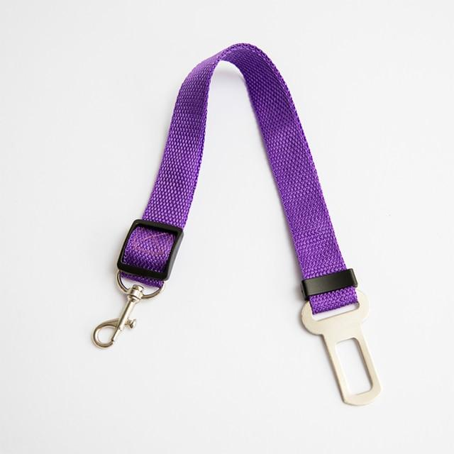Pet Dog Cat Car Seat Belt Adjustable Harness Seatbelt Lead Leash for Small Medium Dogs Travel Clip Pet Supplies 11 Color - GoJohnny437
