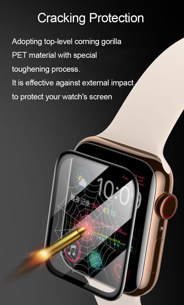 PET + PMMA waterproof screen protector for apple watch 5 4 3 38MM 40MM 44MM 42MM Not Tempered soft glass film for Iwatch 4/5 - GoJohnny437