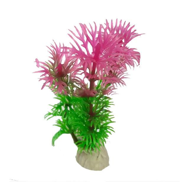Plastic Water Plant Grass Aquarium Decorations Plants Fish Tank Grass Flower Ornament Decor Aquatic Accessories - GoJohnny437