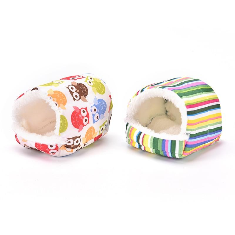 Plush Soft Guinea Pig House Bed Cage for Hamster Mini Animal Mice Rat Nest Bed Hamster House Small Pet Products - GoJohnny437