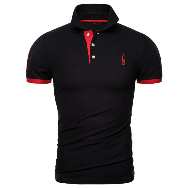 Polos Men Embroidery Polo Shirt Men Casual Patchwork Male Tops Clothing Men - GoJohnny437