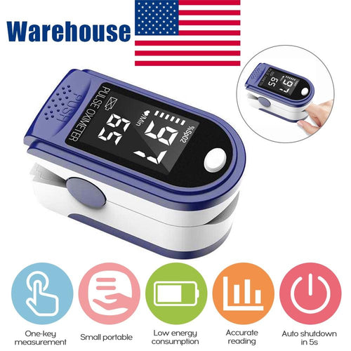 Portable Blood Oxygen Monitor Finger Pulse Oximeter Oxygen Saturation Monitor Fast Shipping within 24hours (without Battery) - GoJohnny437